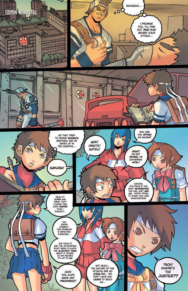 Rival Schools Comic | Shoryuken